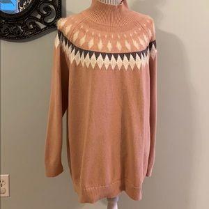Michel Studio Collection Mock Neck 60% C Sweater